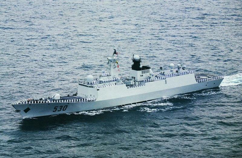中国两大舰队同时穿越宫古水道 第一岛链成筛子(组图)