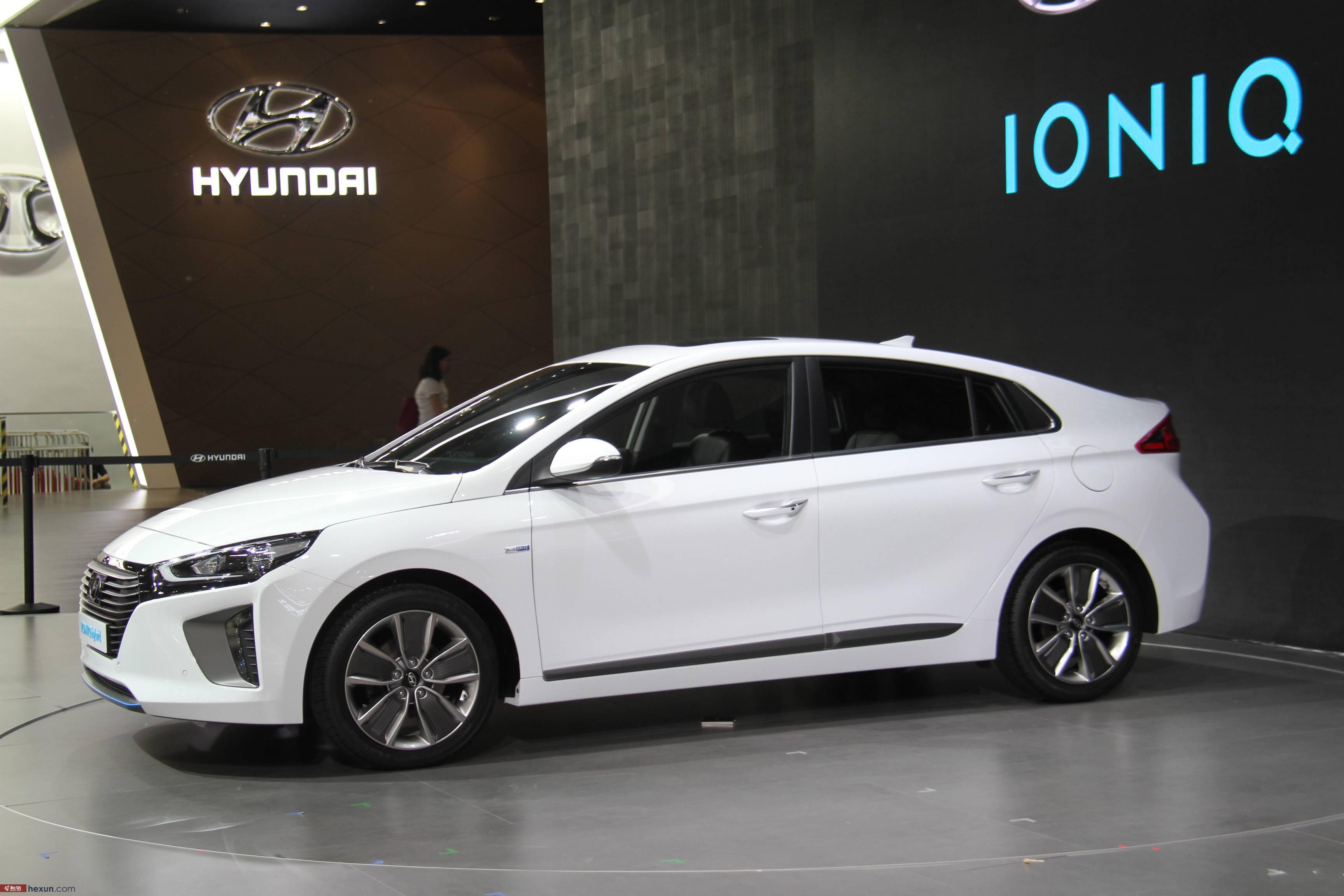 和讯汽车实拍北京车展北京现代ioniq