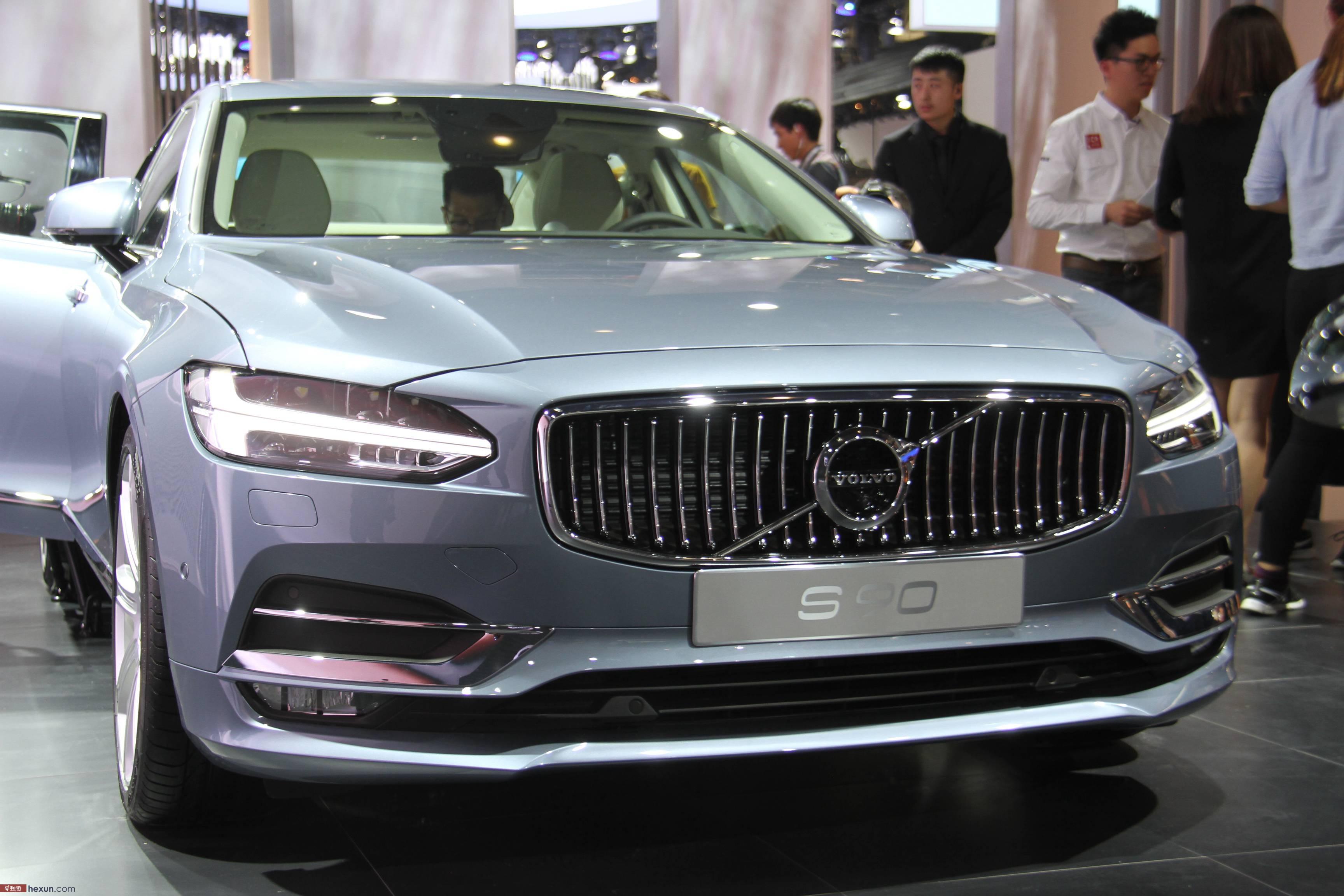 和讯汽车实拍北京车展沃尔沃s90